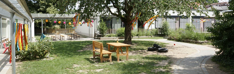 Garten der Kinderkrippe